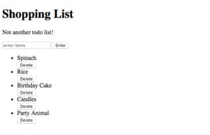 JavaScript to do list