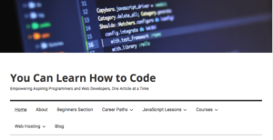 You Can Learn How to Code website