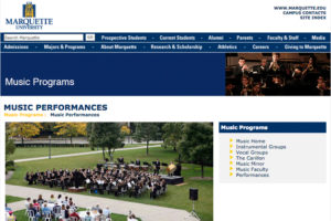 Marquette Music Website