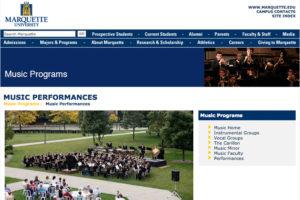 Marquette Music Website